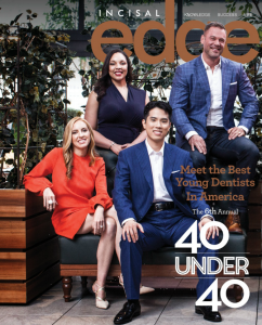 Dr. Matthew Huff in Incisal Edge Magazine's 40 dentists under 40